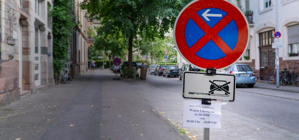 Halteverbot einrichten in Freiburg durch Rote Radler